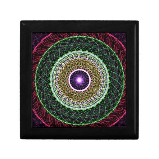 Ojo abstracto cajas de joyas