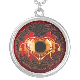 Ojo abstracto del corazón del fuego colgante redondo