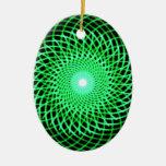 Ojo abstracto verde adorno de navidad