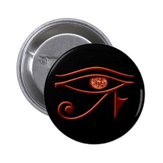 Ojo ardiente del botón de Horus Pin Redondo De 2 Pulgadas
