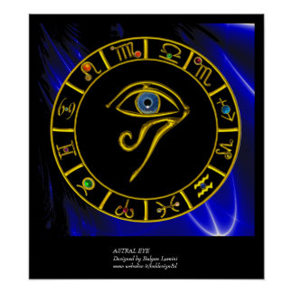 OJO ASTRAL TALISMÁN AZUL POSTERS