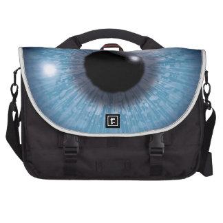 ojo azul, bolsa para ordenador