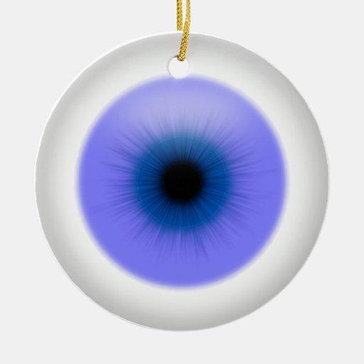Ojo azul colgante en el ornamento del globo del adorno redondo de cerámica