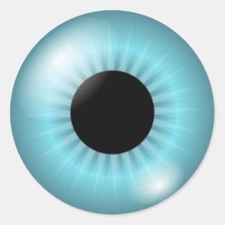 Ojo azul de Frost Etiquetas Redondas