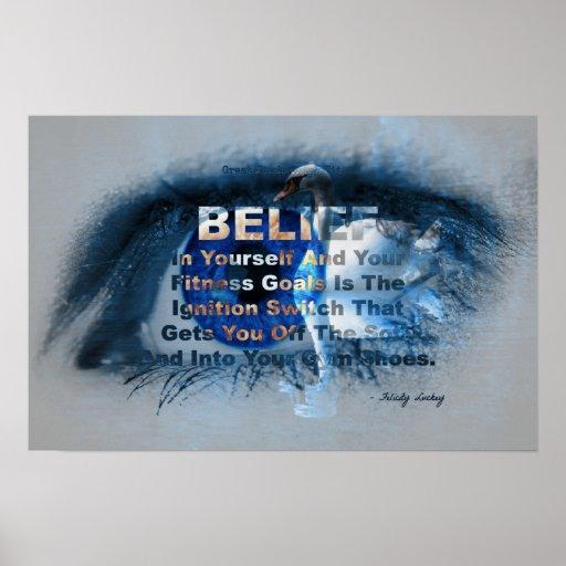 ¡Ojo azul de la creencia de la aptitud! Impresiones