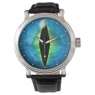 Ojo azul del dragón reloj de mano