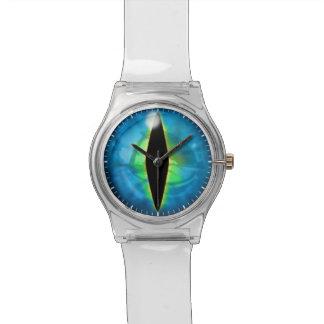 Ojo azul del dragón relojes de pulsera