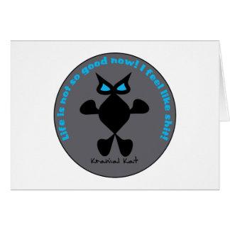 Ojo azul del gato, gato del ojo azul tarjeta de felicitación