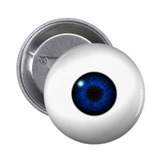 ojo azul pin redondo de 2 pulgadas