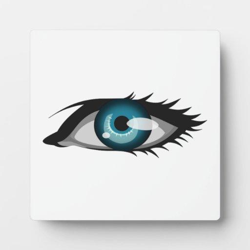 Ojo azul placas de madera