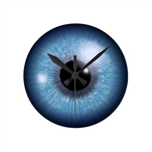 ojo azul, relojes de pared