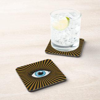 Ojo azul solar posavasos de bebidas