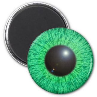 Ojo azulverde con el imán de la llamarada