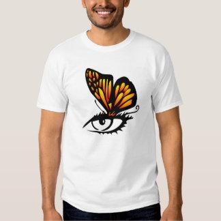 Ojo blanco de la mariposa camisas