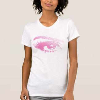 Ojo bonito elegante de la mujer en el tono medio - camiseta