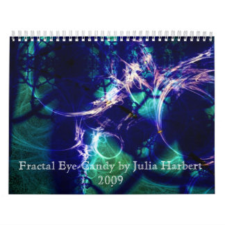 Ojo-Caramelo del fractal de Rainbowjellyfish - mod Calendarios De Pared