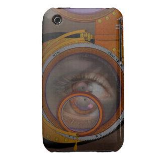 ojo como lente - variación del steampunk iPhone 3 cobertura