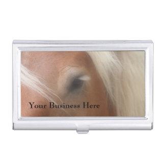 Ojo conmovedor del caballo equino cajas de tarjetas de negocios