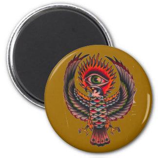 ojo de águila imán redondo 5 cm