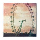 Ojo de Anitiqued Londres en la salida del sol Azulejos Cerámicos