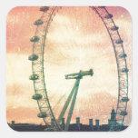 Ojo de Anitiqued Londres en la salida del sol Colcomanias Cuadradases