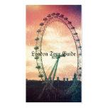 Ojo de Anitiqued Londres en la salida del sol Tarjetas De Visita