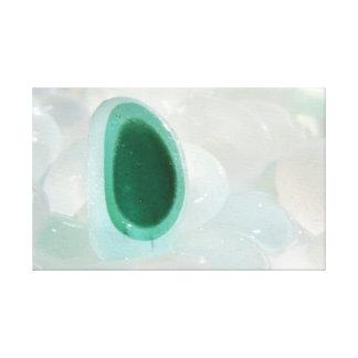 Ojo de cristal del mar impresion en lona