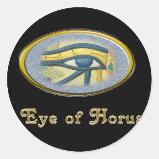 Ojo de dios del egipcio de Horus Pegatina Redonda