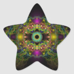 Ojo de dios - vejiga Piscis Pegatina En Forma De Estrella