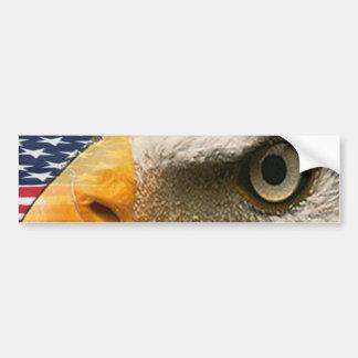 OJO DE EAGLE (AMERICANO PATRIÓTICO DE LOS E.E.U.U. ETIQUETA DE PARACHOQUE