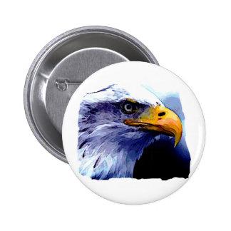 Ojo de Eagle Pin Redondo De 2 Pulgadas