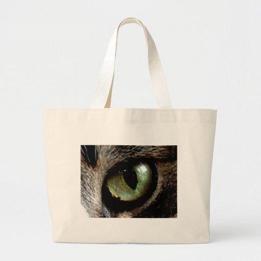 Ojo de gato bolsa tela grande