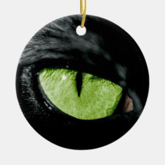 Ojo de gato ornamento para arbol de navidad