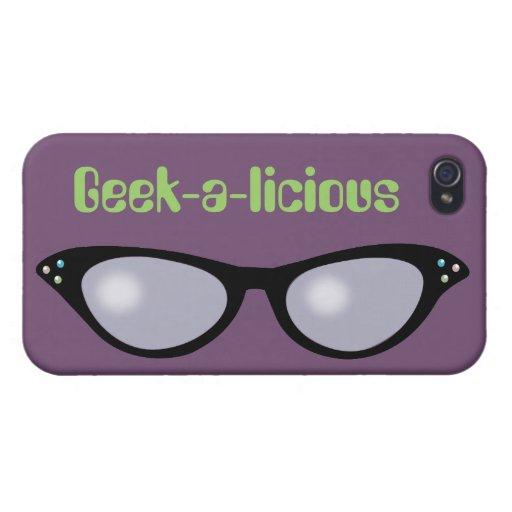 Ojo de gato G4 Geeky iPhone 4/4S Fundas
