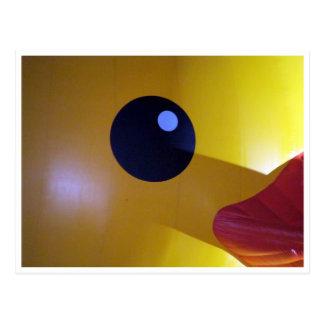 ojo de goma del pato postales