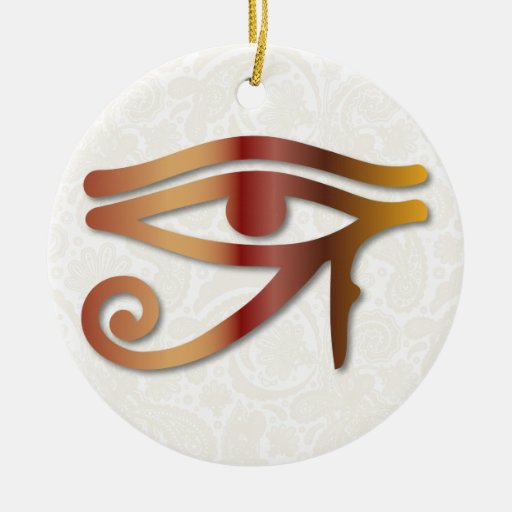 Ojo de Horus - 1 Rojo-Amarillo - ornamento Ornamento De Navidad