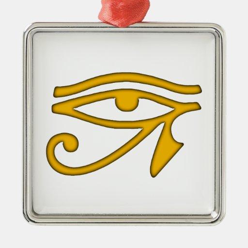 Ojo de Horus Adorno Cuadrado Plateado