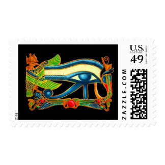 Ojo de Horus en negro Sello