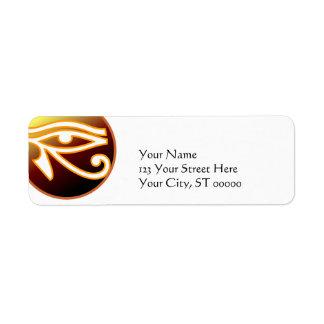 Ojo de Horus Etiqueta De Remite