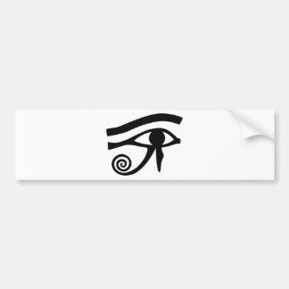 Ojo de Horus jeroglífico Pegatina De Parachoque