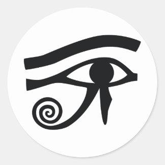 Ojo de Horus jeroglífico Pegatinas Redondas