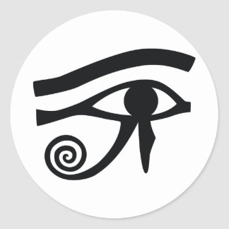 Ojo de Horus jeroglífico Pegatina Redonda