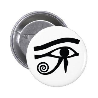 Ojo de Horus jeroglífico Pin Redondo De 2 Pulgadas