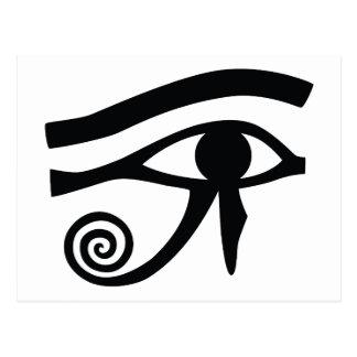 Ojo de Horus jeroglífico Tarjeta Postal
