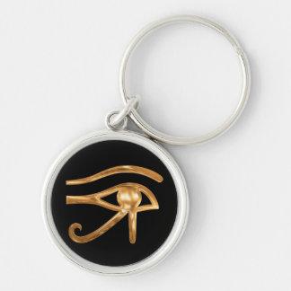 Ojo de Horus Llavero Redondo Plateado