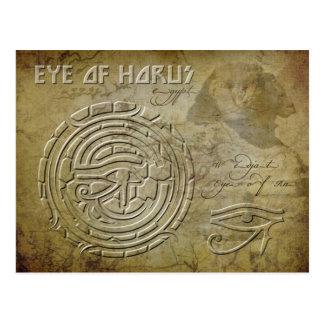 Ojo de Horus (ojo del Ra) Postal