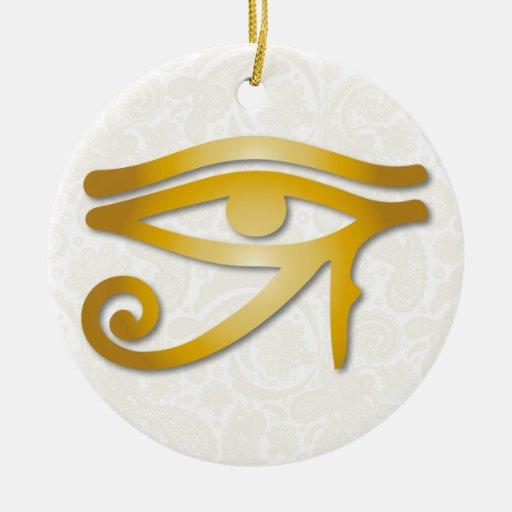 Ojo de Horus - oro 1 - ornamento Ornamento Para Reyes Magos