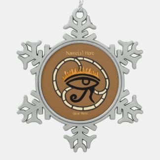 Ojo de Horus (oro) Adorno De Peltre En Forma De Copo De Nieve