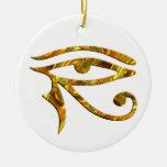 Ojo de Horus - ORO Ornamento Para Arbol De Navidad