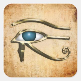 Ojo de Horus Pegatina Cuadrada